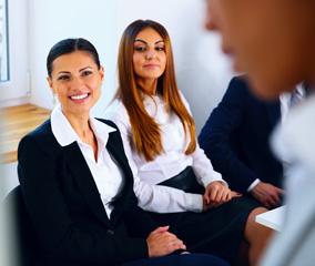 Professionals in business attire